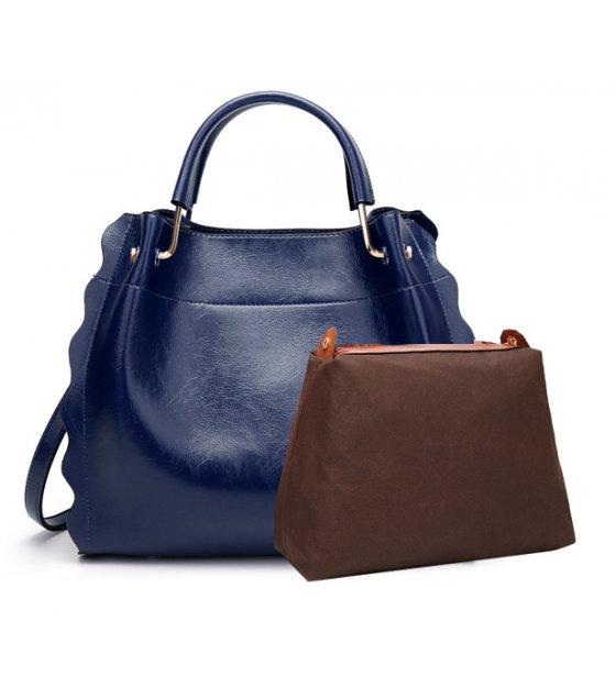 H1214 - Navy Blue Tassel Shoulder Bag
