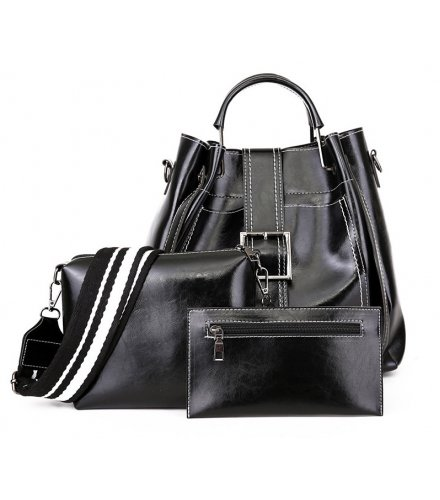 H1232 - Korean Bucket Tassel Handbag Set