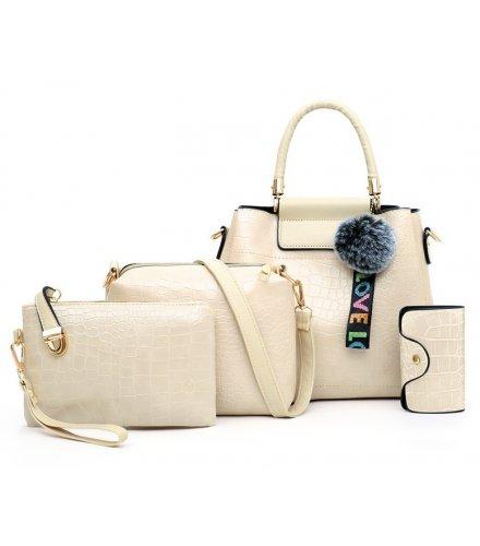 H1238 - Korean ladies woolen ball Handbag Set