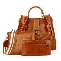 H1245 - Korean Bucket Tassel Handbag Set