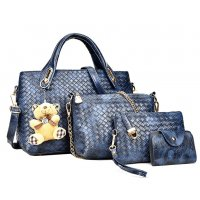 H1250 - Four Piece Embossed Handbag Set