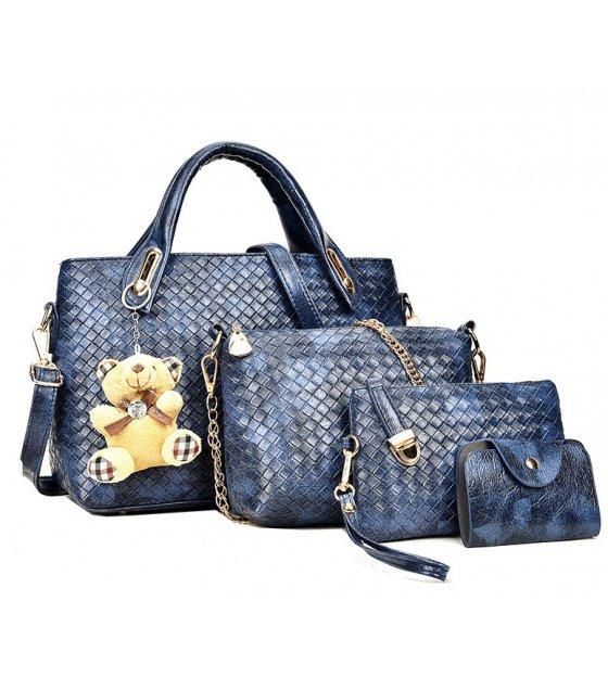 H1250 - Four Piece Embossed Handbag Set