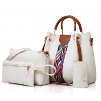 H1252 - Three Piece Bucket Tassel Shoulder Handbag Set