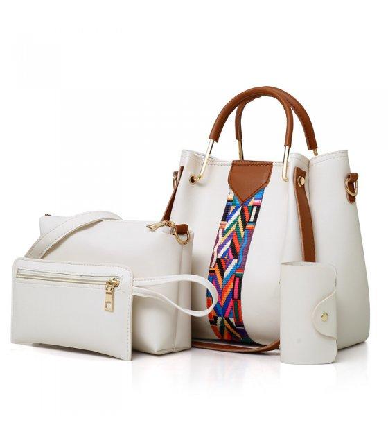 H1259  - Three Piece Bucket Tassel Shoulder Handbag Set