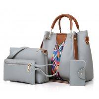 H1260  - Three Piece Bucket Tassel Shoulder Handbag Set