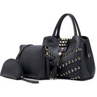 H1274 - Fashion Rivet Ladies Handbag Set