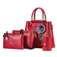 H1276- Crocodile pattern Handbag Set