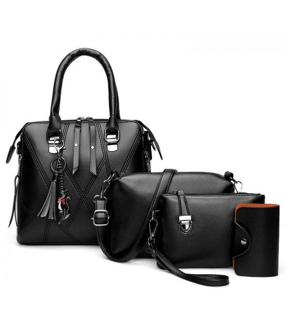 H1281 - Korean Simple Shoulder Handbag Set