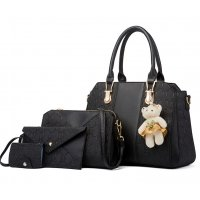 H1294 - Embossed Three Piece Shoulder Bag Set