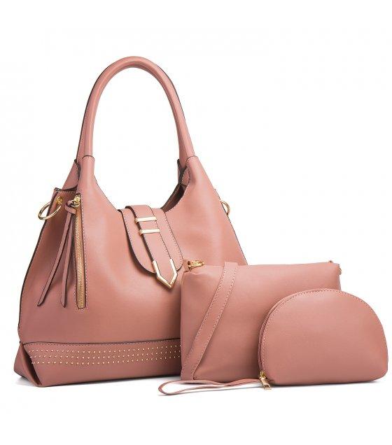 H1295 - Three Piece Fashion Handbag Set