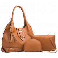 H1296 - Three Piece Fashion Handbag Set