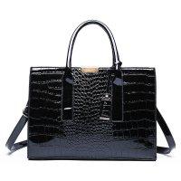 H1310 - Crocodile pattern Tote Handbag