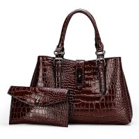 H1314 - Embossed Fashion Handbag Set