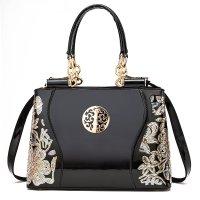 H1346 - Retro Printed Luxury Messenger Bag