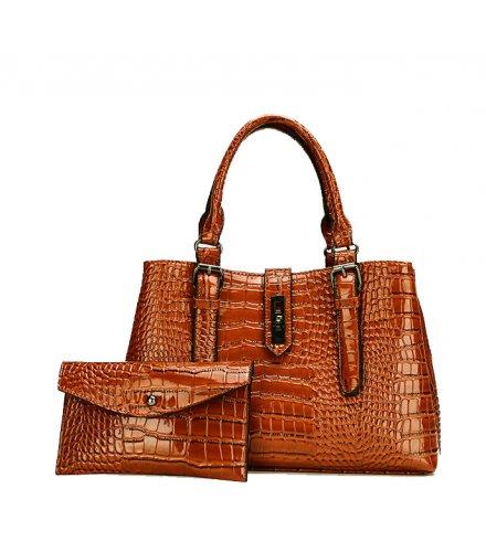 H1347 - Embossed Fashion Handbag Set