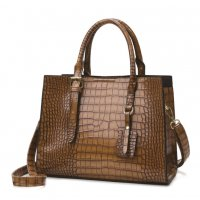 H1349 - Crocodile pattern Tote Handbag