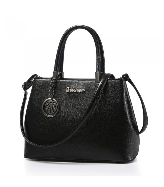H271 - Simple Black Shoulder Bag