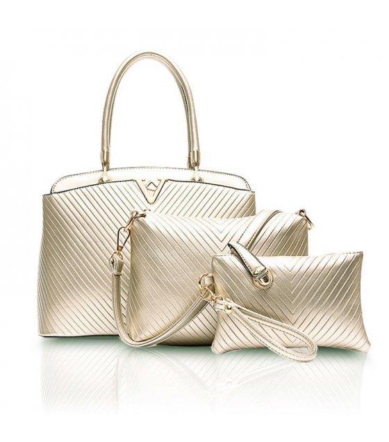 H330 - V embossed handbag