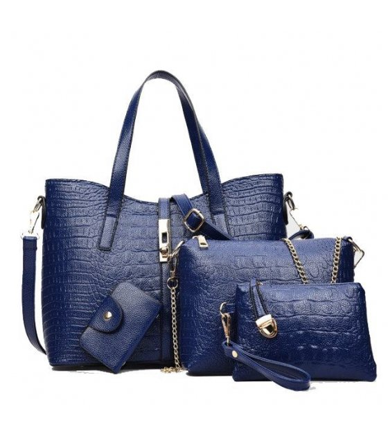 H359 - Crocodile Messenger Handbag