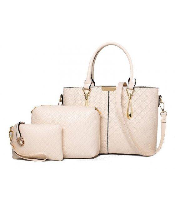 H363 - Cream Colored Handbag