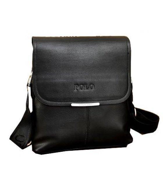 H430 - Black Polo Messenger Bag