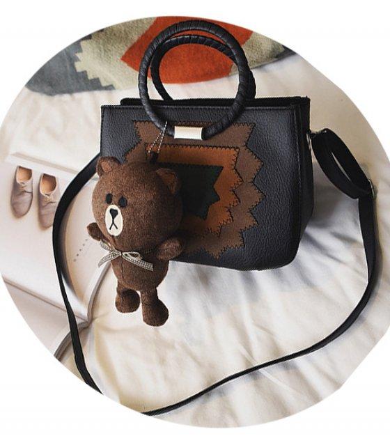 H496 - Simplistic Black Handbag