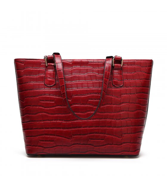 H574 - Fashion crocodile pattern shoulder tote bag