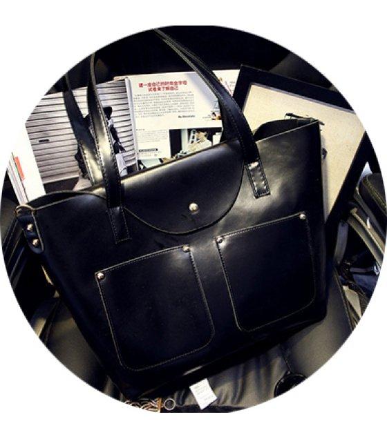 H580 - Double pocket Shoulder bag