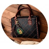 H593 - Simple chain tassel pendant shoulder Messenger bag