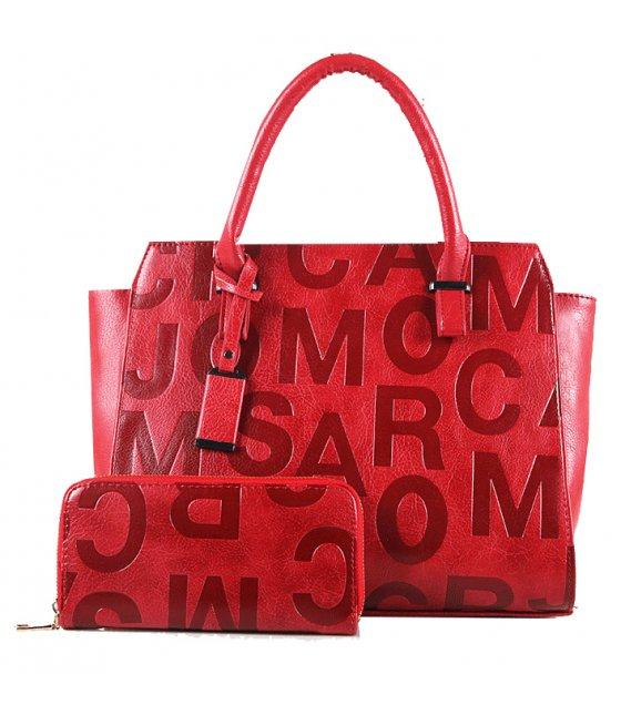 H657 - Embossed shoulder Messenger bag