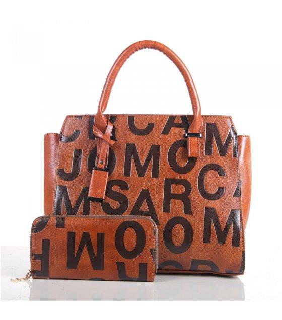 H658 - Embossed shoulder Messenger bag