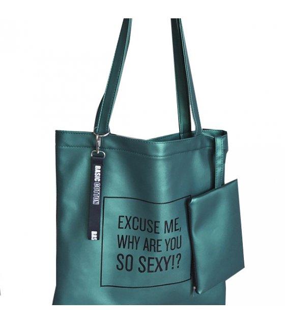 H727 - Printed Tote Shoulder Bag