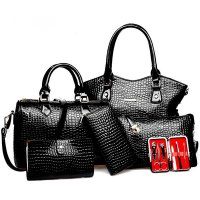 H739 - Crocodile pattern handbag