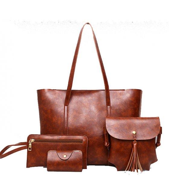 H811 - Korean retro handbag four-piece shoulder Messenger bag