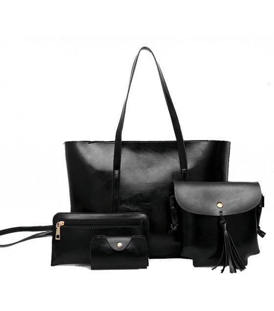 H812 - Korean retro handbag four-piece shoulder Messenger bag
