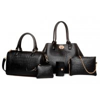 H868 - Korean fashion crocodile pattern Handbag