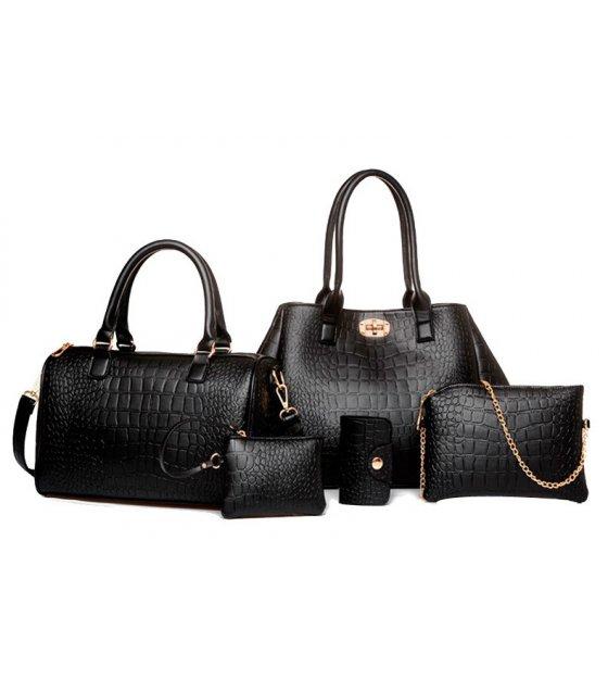 H868 - Korean fashion crocodile pattern Handbag