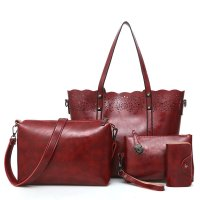 H890 - Retro Hollow Four Piece Handbag