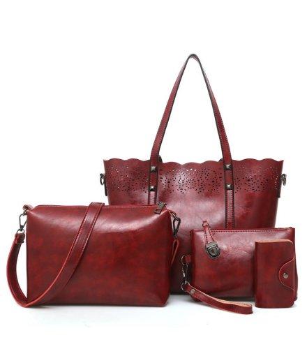 H890 - Retro Hollow Four Piece Handbag
