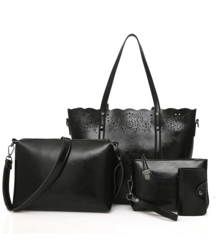 H891 - Retro Hollow Four Piece Handbag