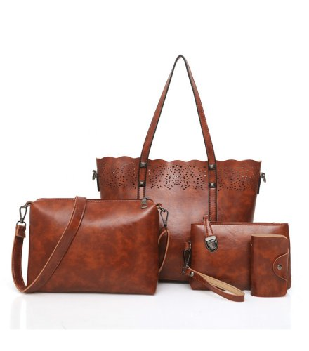 H892 - Retro Hollow Four Piece Handbag