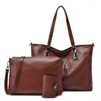 H907 - Stitched Soft Shoulder Bag