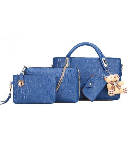 H916 - Embossed Korean Four Piece Handbag Set