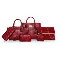 H941 - Woven pattern Shoulder Bag set
