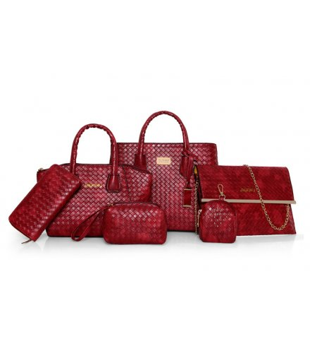 H941 - Woven pattern Shoulder Bag set