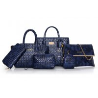 H942 - Woven pattern Shoulder Bag set