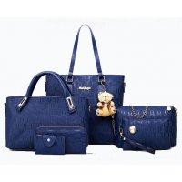 H953 - Embossed Fashion Shoulder Bag Set