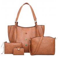 H966 - Rivet Four Piece Shoulder Bag