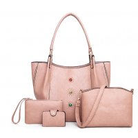 H967 - Rivet Four Piece Shoulder Bag