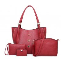 H968 - Rivet Four Piece Shoulder Bag
